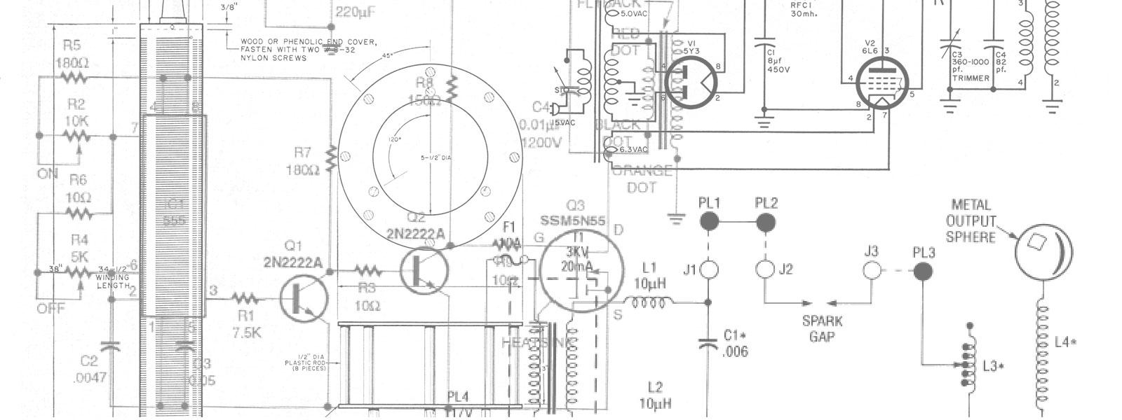 Schematics from Tesla coil plans