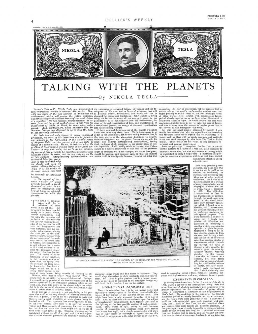 Preview of Talking with the Planets article