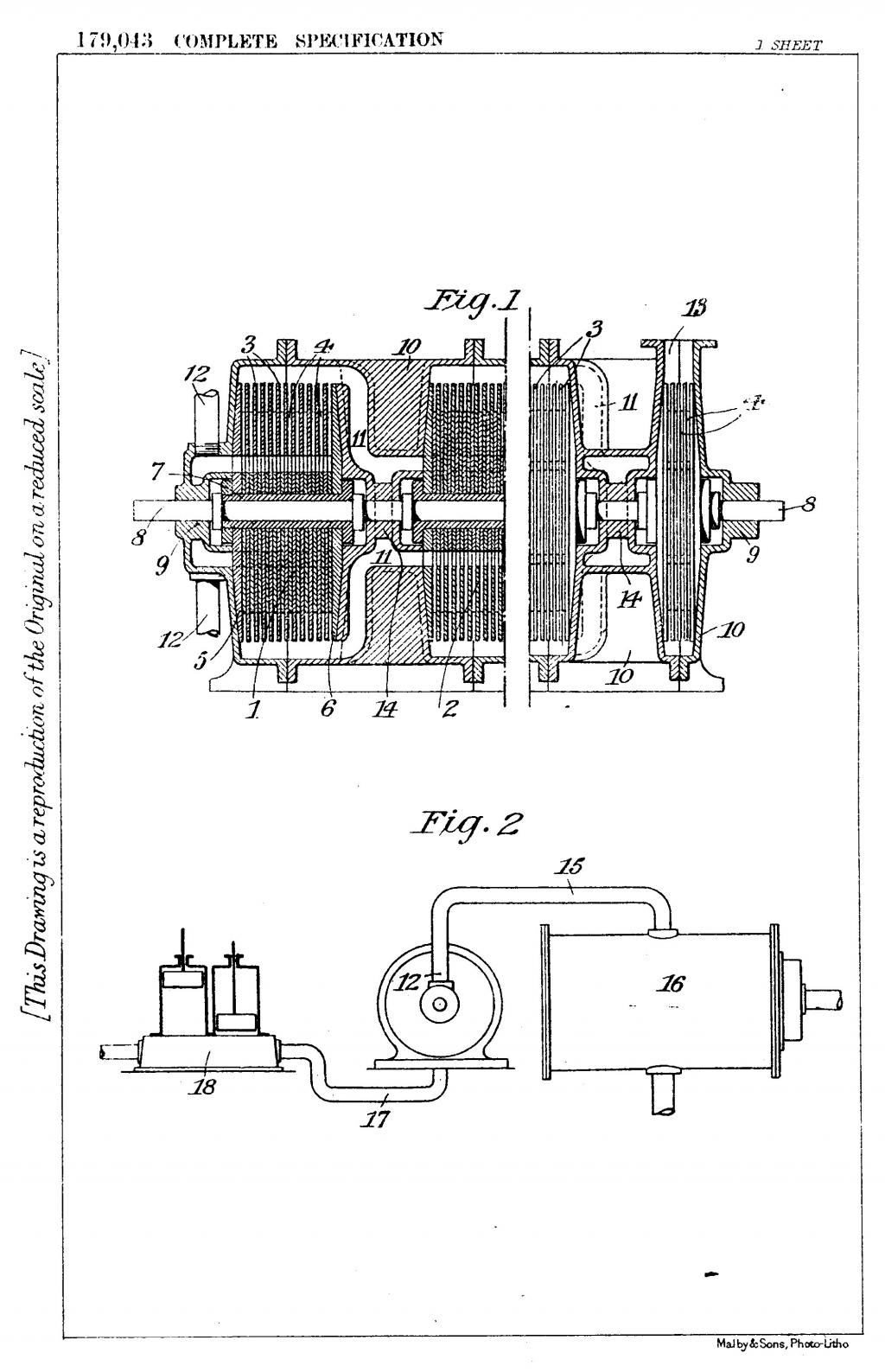 Nikola Tesla British Patent 179,043 - Improved Process of and Apparatus for Production of High Vacua - Image 1