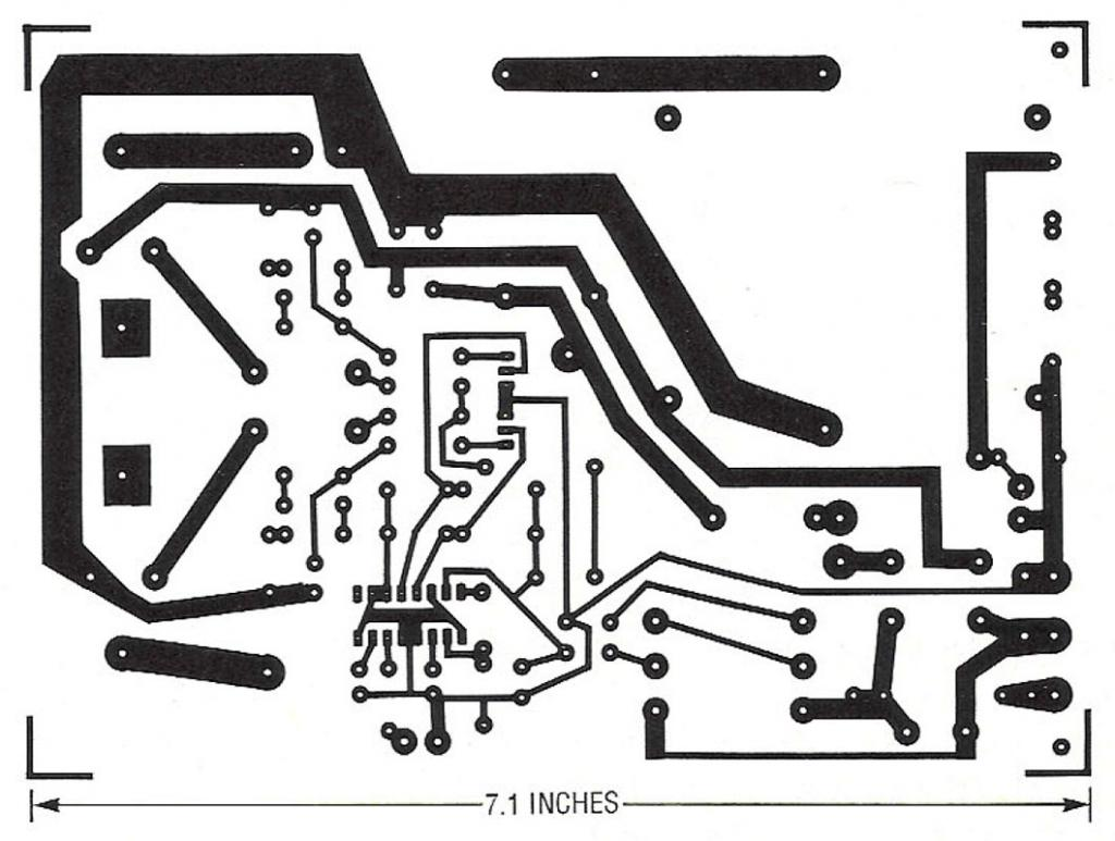 Printed circuit board layout for solid-state Tesla coil.