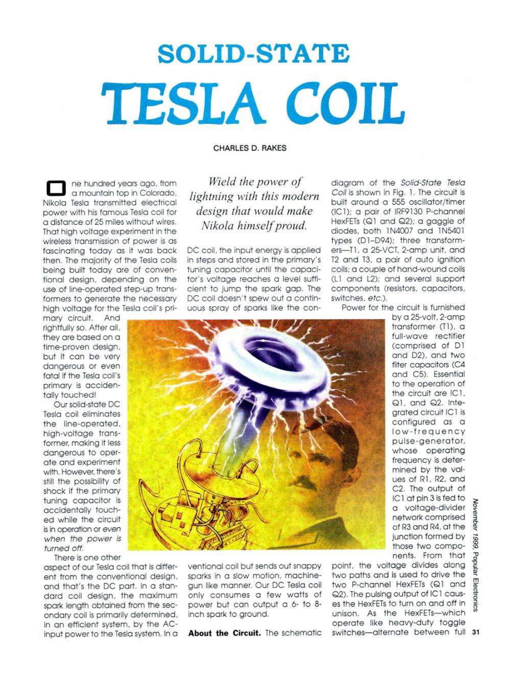 Preview of Solid-State Tesla Coil plan