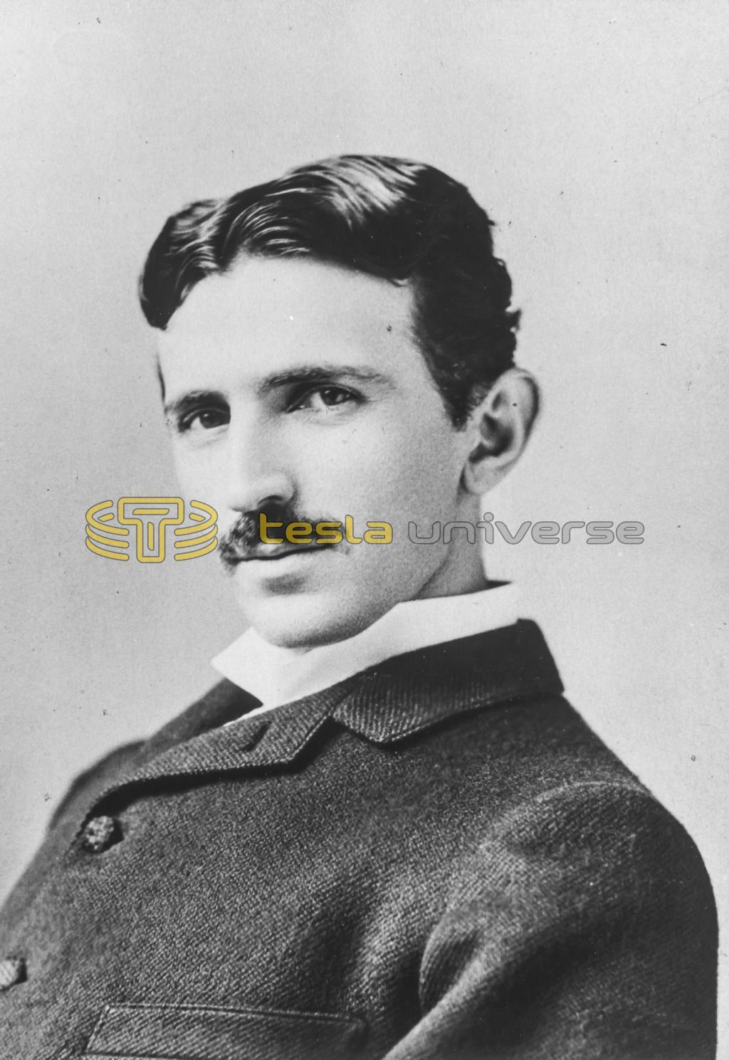 Portrait of electrical genius, Nikola Tesla, at the height of his fame