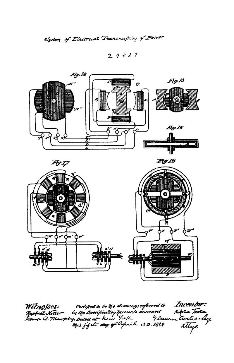 Nikola Tesla Canadian Patent 29537 - System of Electrical Transmission of Power - Image 2
