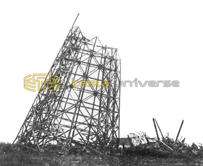 The Wardenclyffe tower after the second dynamiting