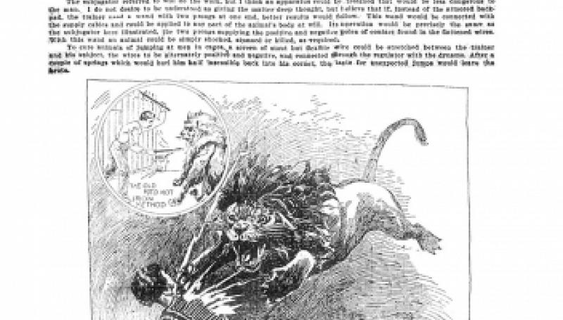 Preview of Electricity to Tame Wild Beasts - Tesla on Animal Training by Electricity article