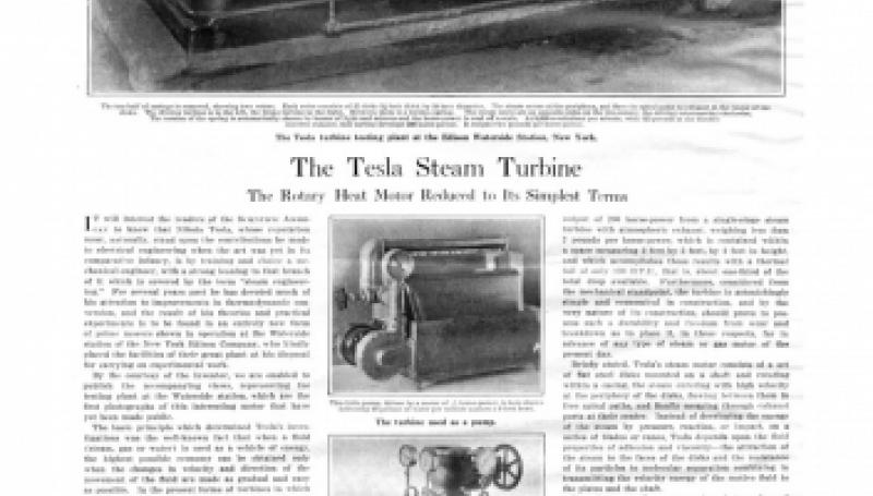Preview of The Tesla Steam Turbine article