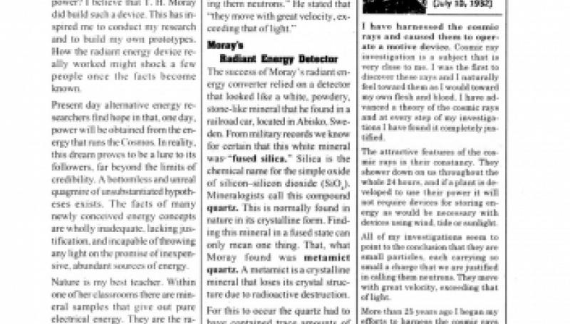 Preview of Converting Cosmic Radiant Energy into Electrical Energy article