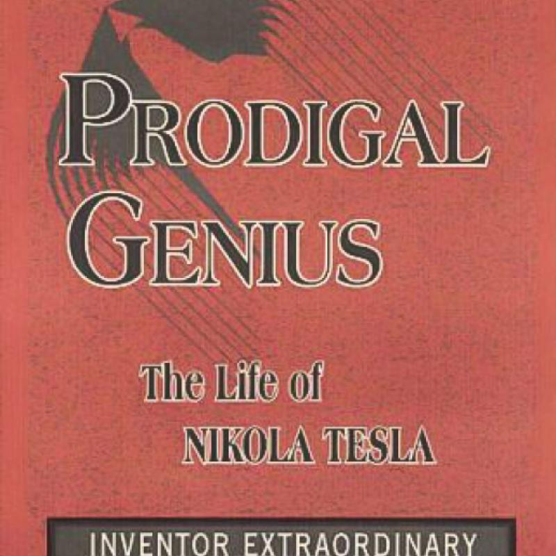 "An early cover of ""Prodigal Genius: The Life of Nikola Tesla"" by John J. O'Neill"