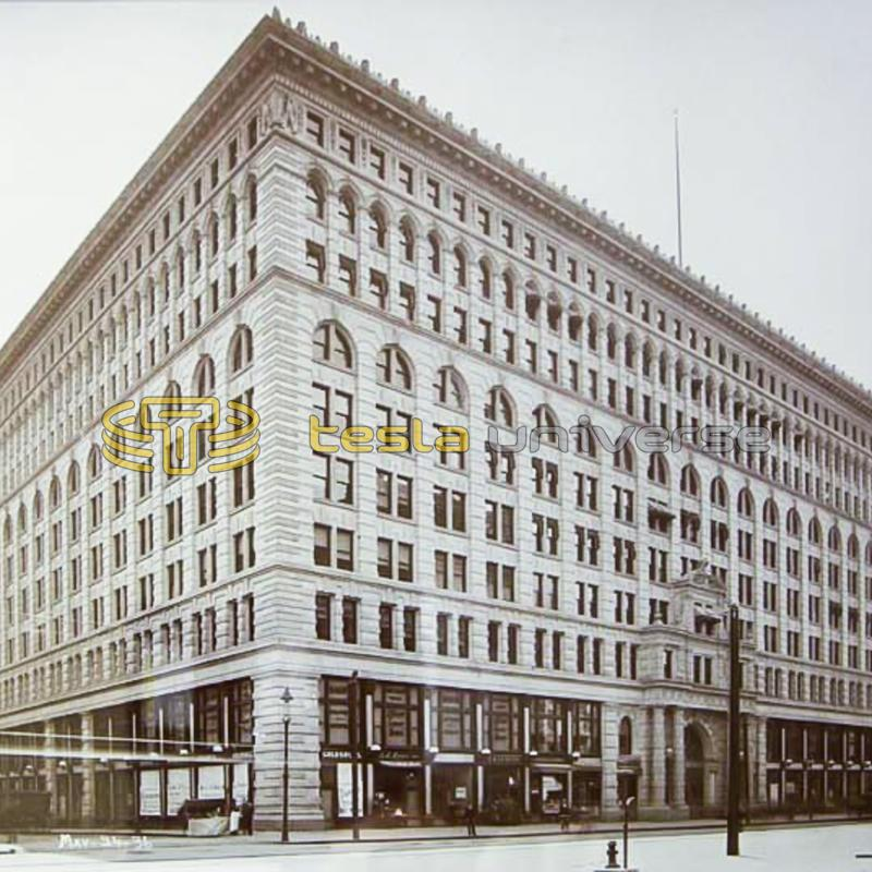 The Ellicott Square Building in Buffalo, New York where Tesla lectured