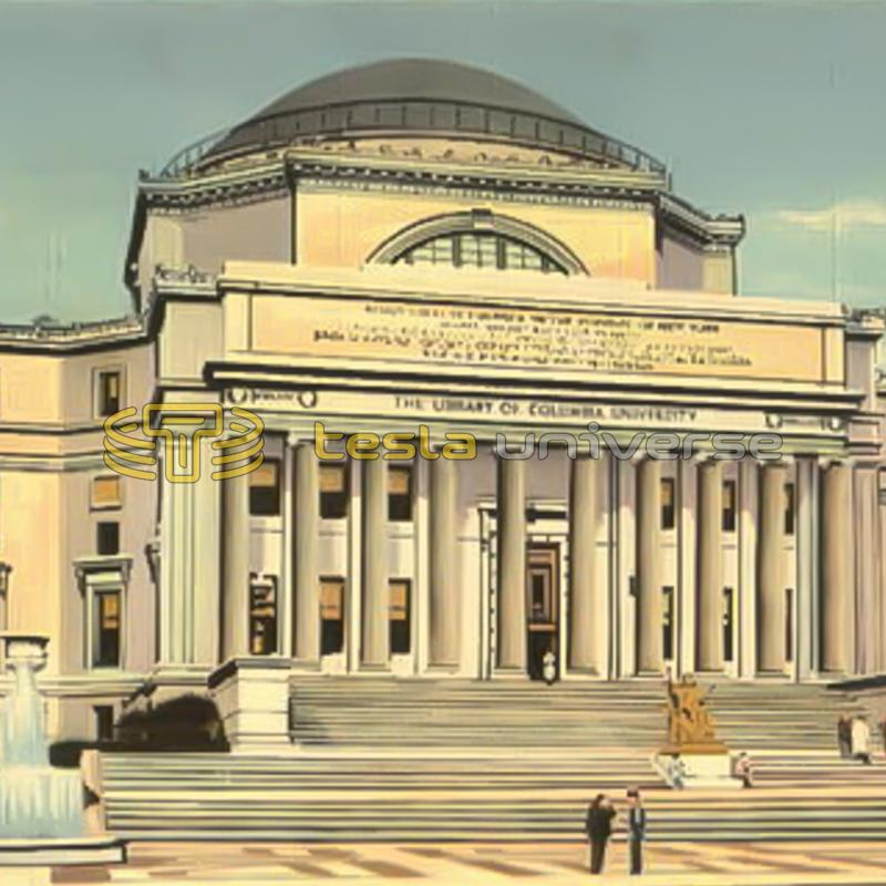 The library of Columbia University, New York City