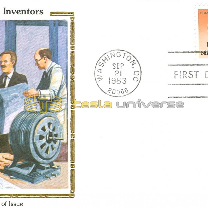 "Tesla stamp on the Colorado ""Silk"" Cachet cover"