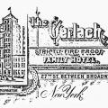 Gerlach Hotel letterhead from the time when Tesla resided there