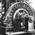 A Westinghouse 200kW alternator, the Wardenclyffe tower's primary power source